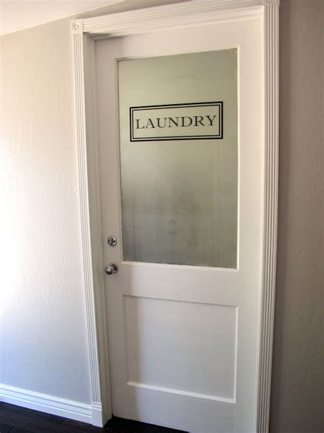 beautiful laundry room door