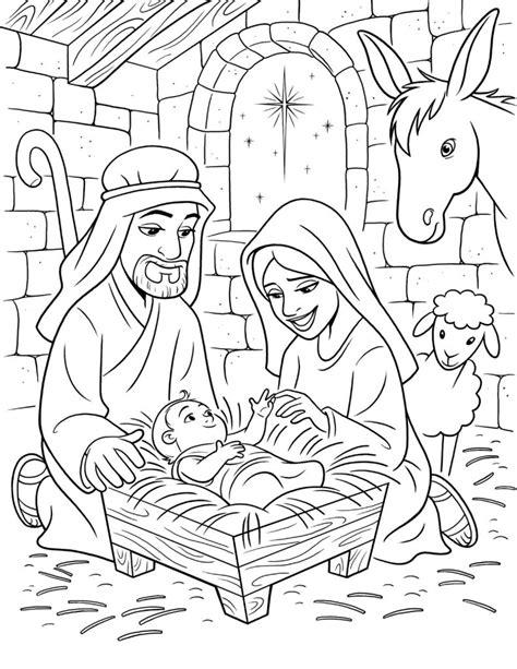 jesus born in a manger coloring page o nascimento de jesus desenhos para colorir