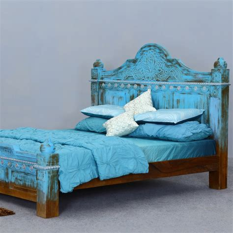blue platform bed introducing new solid wood bed collection at sierra living