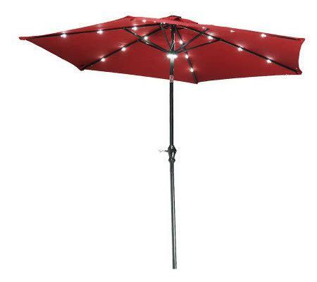Patio Umbrella With Lights Qvc Southern Casual 10 Solar Crank Tilt Umbrella W Color