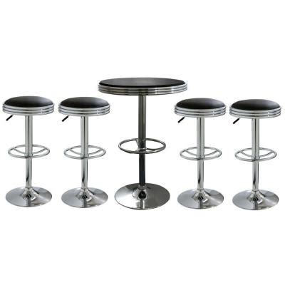 Soda Shop Bar Stools by Amerihome 4 Soda Style Bar Stools And Table 5 Bsset6 The Home Depot