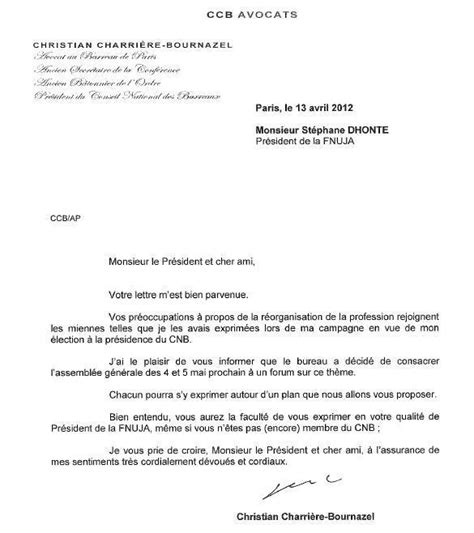 Présentation De Lettre Ouverte Gouvernance R 233 Ponse Du Pr 233 Sident Du Cnb 224 La Lettre
