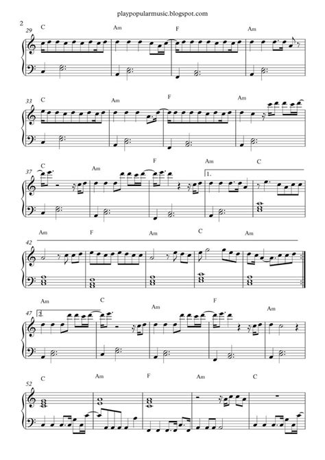 Free piano sheet music: Can't stop the feeling! - Justin