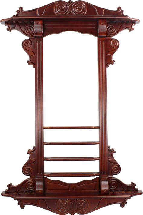 Cue In The Rack by Ozone Premium Pool Cue Wall Rack Cherry Mahogany 8