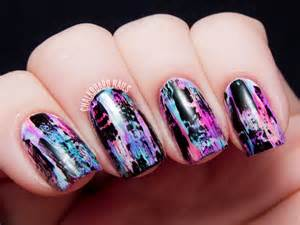 tutorial distressed nail art punk grungy effect youtube
