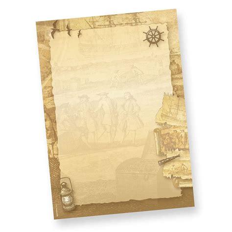Päckchen Aufkleber Selber Ausdrucken by Briefpapier Piraten Seefahrer 100 Sets Inkl Kuverts
