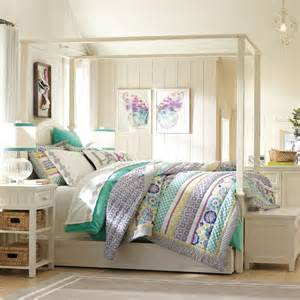 pbteen bedroom bedroom ideas canopy bed with contemporary design