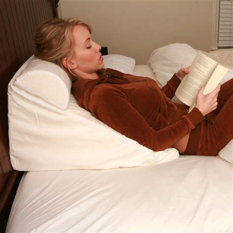 reading in bed pillows bed wedge support pillow