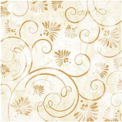 golden svg pattern background floral golden curly pattern royalty free vector clip art
