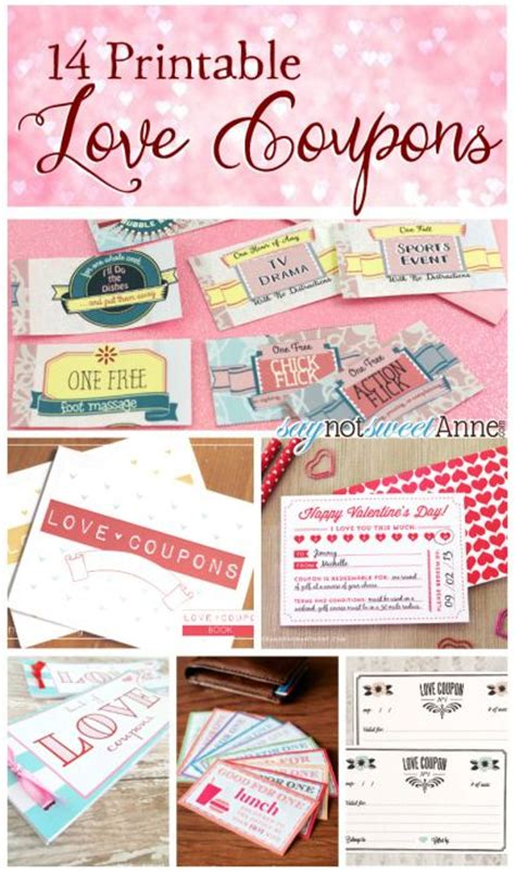 pinterest free printable love coupons love coupons free printable and coupon on pinterest