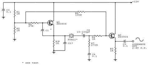 transistor oscillator circuit electronic circuits collections two transistors sine wave oscillator