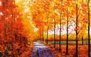 autum tree paintings