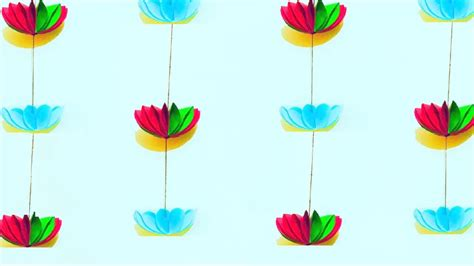 Toran With Paper - paper flower garland for home decoration diy wall