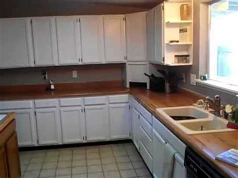 Diy Reface Kitchen Cabinets by Before And After Painting Oak Kitchen Cabinets White High
