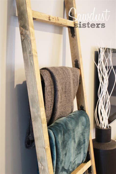 Bathroom Towel Holder Ideas diy blanket ladder sawdust sisters