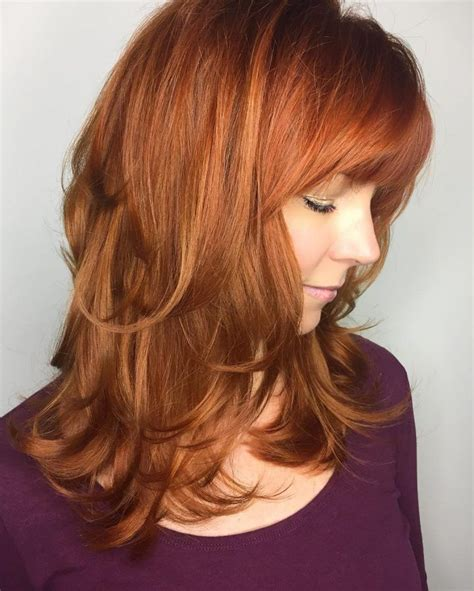 Hairstyles Feathered Layers Angled | 25 best ideas about red bangs on pinterest perfect