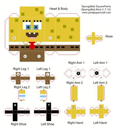 Spongebob Papercraft - papercraft spongebob squarepants spongebob mod 1 7 10