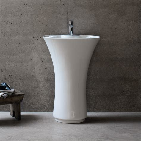 freestanding bathroom basin britton bathrooms curve freestanding basin with pedestal