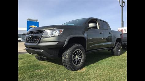 chevy colorado green green 2018 chevrolet colorado diesel zr2 4x4