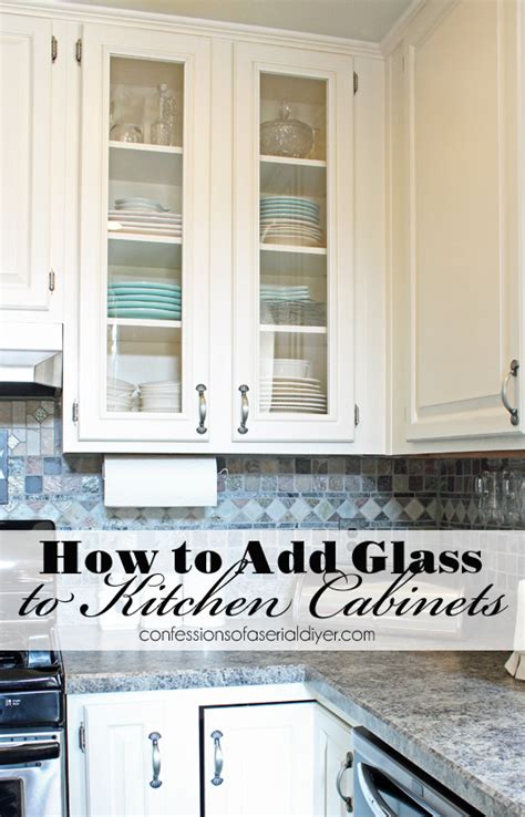 Add Glass To Kitchen Cabinet Doors How To Add Glass To Cabinet Doors Confessions Of A Serial Do It Yourselfer
