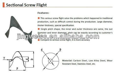 sectional screw flight forming machine sectional screw flights for spiral conveyor and flexible