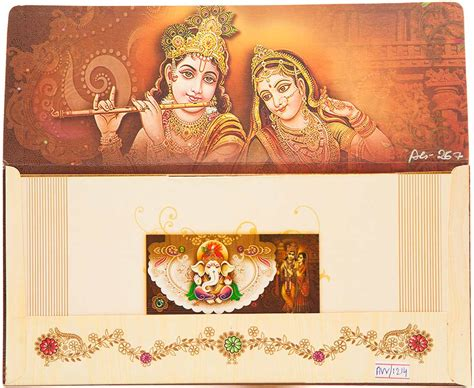 wedding card hindu hindu wedding card with god images and wedding procession