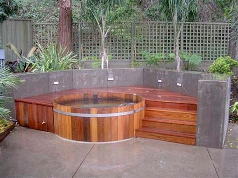 outdoor hot tub natural cedar hot tubs for outdoors digsdigs