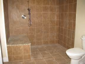 Bathroom Walk In Shower Designs by Marvelous Brown Ceramic Wall Tiled And Chrome Roll In