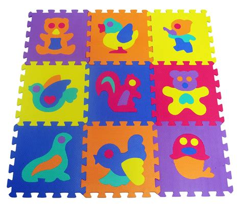 Puzzle Evamats 30 Cm X 30 Cm Motif Gambar Hewan 10 pcs 30cm x 30cm animal pattern mat foam floor puzzle 11street malaysia puzzles