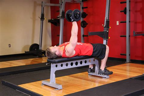 bench press for biceps one arm dumbbell bench press exercise guide and video