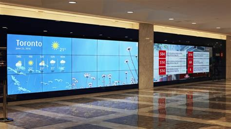 video wall layout huge video wall installed in toronto digital signage today