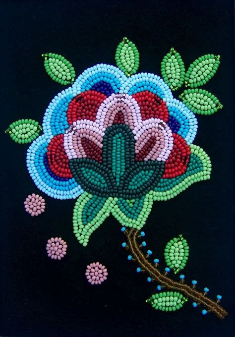 beadwork flowers floral beadwork became a trademark of the m 233 tis and the