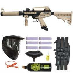 Tippmann Cronus Tactical Paintball Gun 3Skull Mega Set - Tan E Blade Paintball Gun