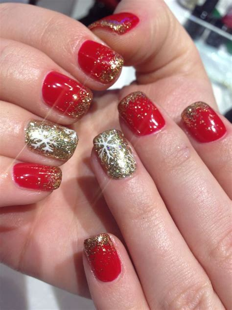 Hair Manicure Di Salon winter nails snowflakes and gel nail designs on