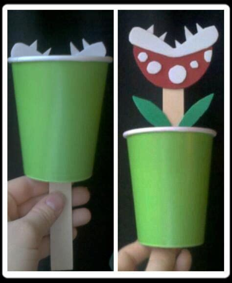 mario crafts for mario brothers piranha plant craft