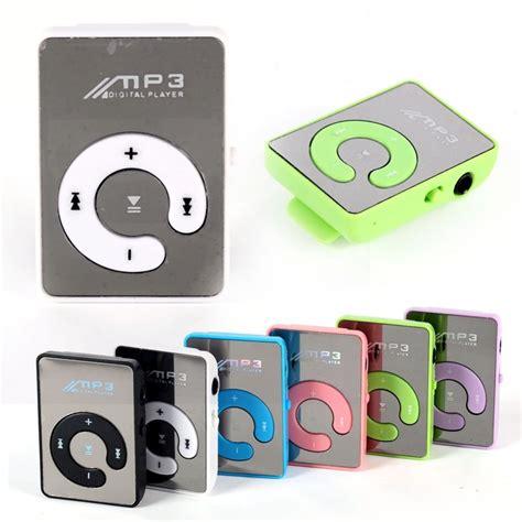 Mp3 Mini Player Jepit Colour new mini mirror clip usb digital mp3 player support 8gb sd tf card 6 colors a57 in mp3