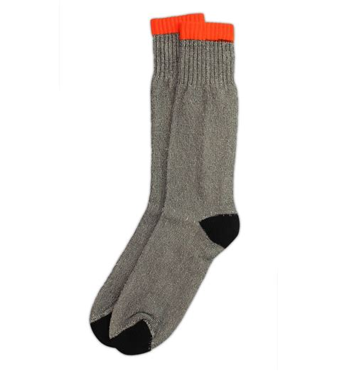 thermal socks ruggeds s insulated thermal socks with orange stripe