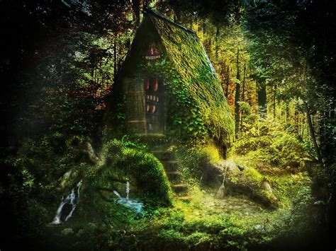 Cottage Witch by Witch Cottage In The Woods The Otherworld