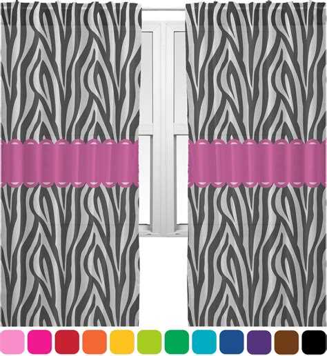 zebra window curtains zebra sheer curtains 60 quot x84 quot personalized youcustomizeit