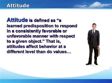 Mba Hons Meaning by Attitude Ppt Mba Hons