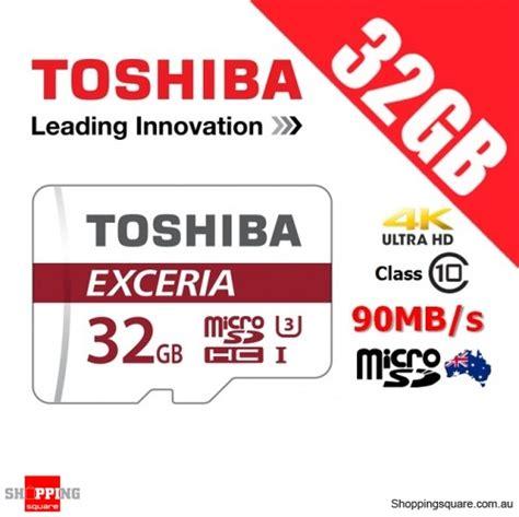 Toshiba Micro Sd 32gb Memory Sd Card Murah toshiba exceria 32gb microsd microsdhc memory card 90mb s
