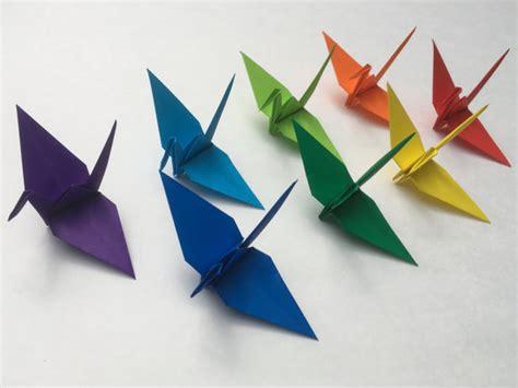 medium origami 100 medium size rainbow origami cranes japanese paper cranes