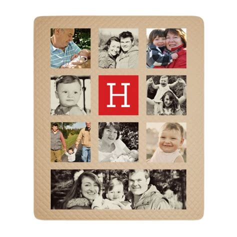 Shutterfly Photo Quilt monogram gallery of nine photo quilt by shutterfly shutterfly