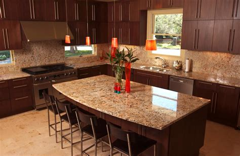 Standalone Kitchen Cabinet by Grey Granite Countertops With Brown Cabinets Images Home
