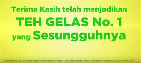 Teh Gelas 1 Dus who is number one in indonesia s rtd tea category mini