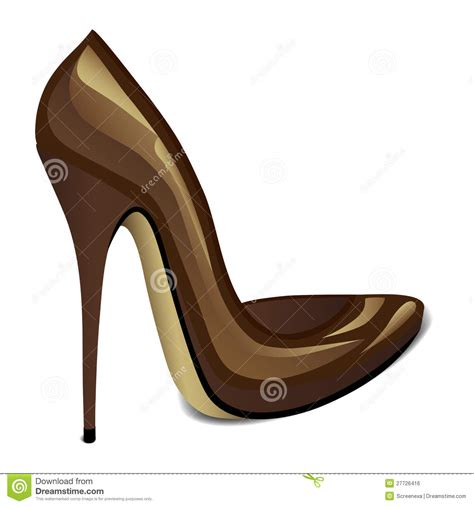 brown high heel brown high heel royalty free stock image image 27726416