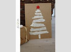 14 Beautiful Homemade Christmas Cards to Inspire You Vintage Christmas Wrapping Paper