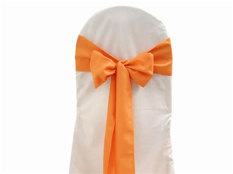 Chair Sash Ties by 20 Polyester Chair Sashes Ties Bows Wedding Ceremony