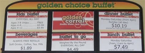 golden corral menu hours prices updated 2016