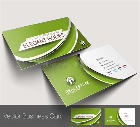 real estate business card stock vector